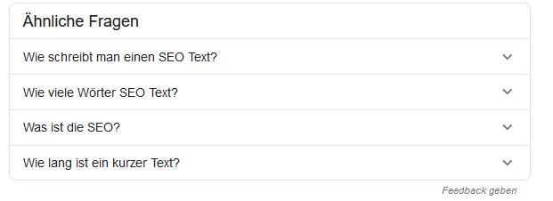 Fragen, die bei Google in den Top 10 erscheinen, solltest du auch beantworten.