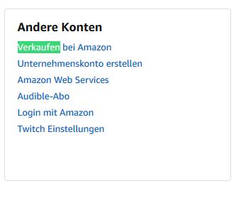 Anmeldung eines Amazon Shops