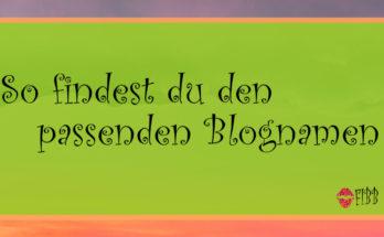 Einfach den passenden Blognamen finden!