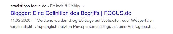 An dem Beispiel siehst du, was passiert, wenn Google keine Meta-Description anzeigt.